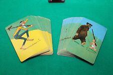 2 Complete Decks of Vintage Playing Cards Cartoon P WEBB HILLBILLYS LQQK
