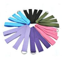 Yoga Stretch Strap D-Ring Belt Waist Leg Fitness 180CM Adjustable Easy-release