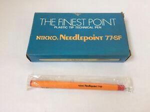 Vintage Nikko Needlepoint Pens 77-SF Red Box 12