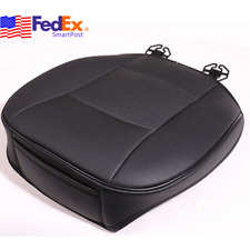 PU Leather Deluxe Car Cover Seat Protector Black Front Cushion Universal US Ship