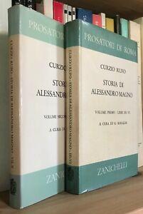 Curzio Rufo Storia di Alessandro Magno Zanichelli testo latino a fronte 2 volumi