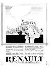 RENAULT REINASTELLA VIVASTELLA MONASTELLA PUBLICITE ADVERTISING 1929