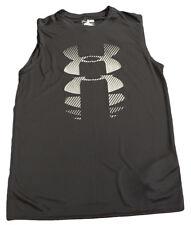 Under Armour 1274431 UA Tech Boys Sleeveless HeatGear T-Shirt BLACK YXL