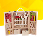 Wooden Simulation Toolbox Toy Kids Construction Tool Box Toys For Children New