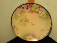 Vintage O.&E.G. Royal Austria Hand Painted and Signed Purple/White Floral Plate