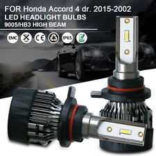 1Pair High Beam LED Headlight Bulbs Kit 9005 For Honda Accord 4 dr. 2015-2002