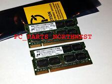 4GB LAPTOP RAM MEMORY KIT 2x 2GB DDR2 PC2-6400 HP ELITEBOOK 8530p 8530w 8730w