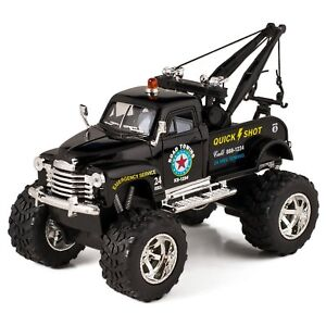 Kinsmart 1953 Chevy 3100 Wrecker Off Road Diecast Model Tow Truck Toy 1:38 Black