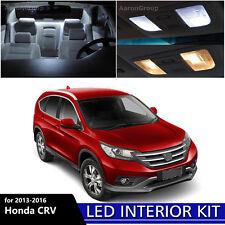 8PCS White Interior LED Bulbs Package Kit  For 2013-2016 Honda CR-V CRV