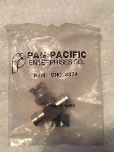 "PAN PACIFIC BNC 3374 ""T"" MALE TO DUAL FEMALE JACK-PLUG-JACK TEE ADAPTER"