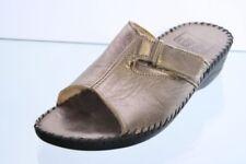 Easy Street Pantoletten Metall bronze Leder Klettverschluss Gr. 37 (UK 4)