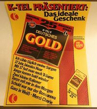 Großer Poster K-TEL's Deutsches Gold, 70er Jahre,50 x 70 cm, unbenutzt, sehr gut