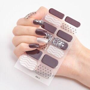 Patterned Creative Nail Polish Art Stickers Women Beauty Nails Sticker Fashion