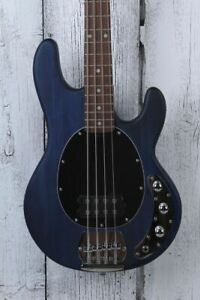Sterling by Music Man StingRay H 4 String Electric Bass Guitar Trans Blue Satin