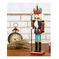Classic 30cm Wood Nutcracker Soldier King Figures Model Puppet Home Decor #2