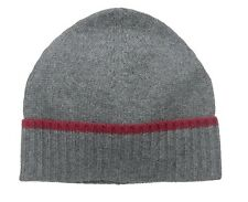 New 100% Cashmere Knit Hat Cap Beanie Skull Watch Gray Grey $100 One Size