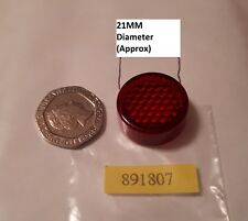 Red Rear Motorcycle / Bike Reflector MOT Legal with Tail Tidy  - Round - BOOM1