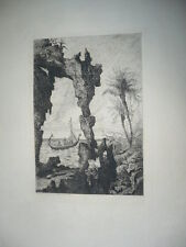 GRAVURE SIGNEE TANCREDE ABRAHAM 1860
