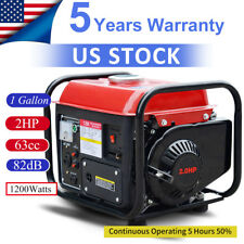 Portable Gas Generator 1200W Emergency Home Back Up Power Camping Tailgating buy