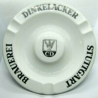 Vintage Cigar Cigarette Ashtray DINKELACKER Stuttgart Brauerei CD Brewery Beer
