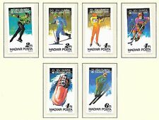 HUNGARY SC 3094-3100 NH imperf SET+SOUVENIR SHEET of 1987 -  OLYMPICS