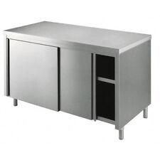 Tavolo 170x60x85 acciaio inox 430 armadiato cucina ristorante pizzeria RS4392
