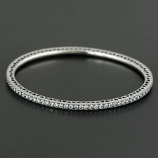 Authentic Genuine Pandora Silver Twinkling Forever Bangle 590511CZ