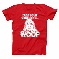 Buzz Your Girlfriend Woof  Home Alone Filthy Animal Red Basic Men's T-Shirt