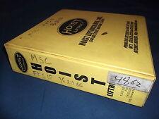 HOIST FKS-15 FORKLIFT SERVICE SHOP REPAIR MANUAL BOOK