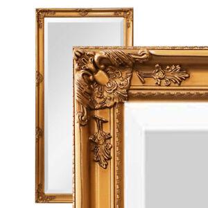XXL Wandspiegel Spiegel gold 200 x 100 cm Antik-Stil barock m. Facettenschliff