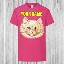CAT logo sulla tasca-GATTINO Pet Crazy Cat Lady Carino Insta Kids T-shirt