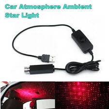 Car 5V 1A LED USB Ambient Atmosphere Roof Decor Star Night Light Projector Lamp
