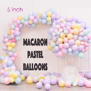 "100 Quality Macaron balloons 5"" Small Round Latex Balloon Choose Colour 9 baloon"