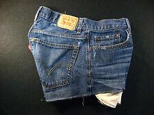 Levis Vintage 569 CUTOFF JEAN SHORTS Cut Off W 29 MEASURED Hot Pants Loose