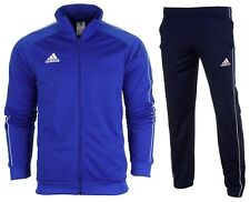 adidas Core 18 Polyester Jacket Kids Blue White 116