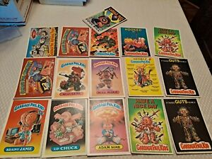Giant Size Garbage Pail Kids GPK Vintage Lot Of 26 Cards Stickers Adam Bomb