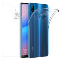 "Etui Coque Silicone Gel UltraSlim Huawei P20 Lite 5.84"" + Film Verre Trempe"