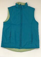 GAP Vest Unisex Blue Green Reversible Sleeveless Zip Front Pockets Sz M