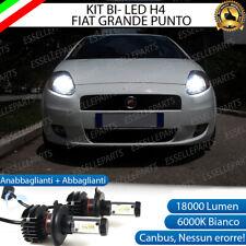 KIT LED H4 6000K FIAT GRANDE PUNTO 18000 LUMEN CANBUS XENO XENON 100% NO ERRORE
