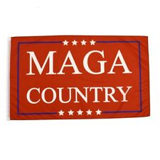 MAGA Country - Red 3x5 President Trump Flag 3'x5' Make America Great Banner