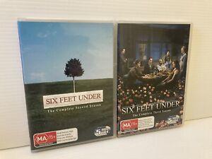 Six Feet Under : Series Season 1 & 2 DVD 10-Disc Set Reg 4 LIKE NEW : FREE POST