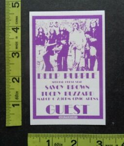 DEEP PURPLE,SAVOY BROWN,Original RARE adhesive cloth Backstage pass.1970's