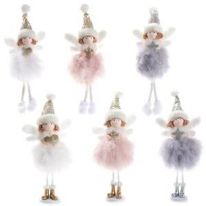 Cute Christmas Tree Decoration Plush Xmas Theme Angel Fairy Ornament Pendants