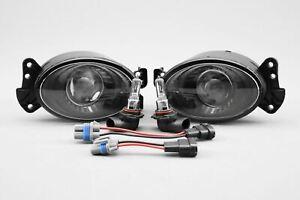 Mercedes-Benz CLK C209 05-09 Black Projector Fog Lights Lamp Set Pair Left Right