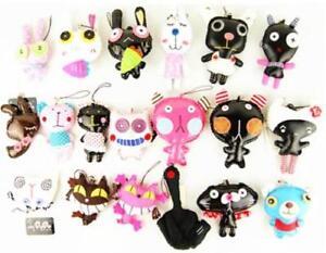 OMG Super Cute Handmade Handcraft Bottom Animal Character Mobil Phone Charm Ring