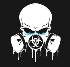 Bio Hazard Decal Hazmat Response Team Gas Mask Skull Emergency Responder Zombie