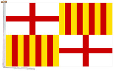 More details for barcelona city spain flag with rope and toggle - various sizes