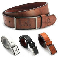 Men's Casual Waistband Leather Belt Automatic Buckle Waist Strap Belts Lot