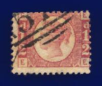 1874 SG49 ½d Rose Plate 11 G4 EE Misperf Good Used Cat £30 cnas
