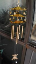 "Chinese Lucky Feng Shui Wind Chime Bells - 3 Tiers - Gold Metal - 12""L - New"